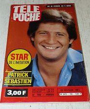TELE POCHE  #785 25/02 1981 P. SEBASTIEN ROXY MUSIC MOTO AUGUSTA PARIS DAKAR