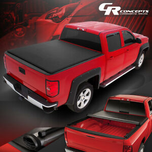 ROLL-UP TRUCK BED TOP VINYL SOFT TONNEAU COVER FOR 2015-2018 FORD F-150 8FT BED