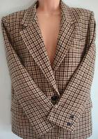 Ladies MARELLA MAX MARA 100% Virgin Wool dogtooth jacket blazer size GB 10