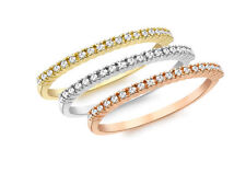 Unbranded Eternity Multi-Tone Gold Fine Rings