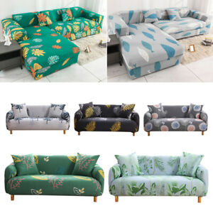 Pastoral Flower Print Stretch Sofa Cover Elastic Couch Cover L shaped Sofa Cover