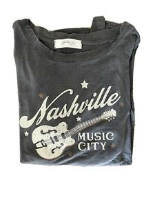 Vintage Nashville Music City T-Shirt Women's. One Size From Altered State