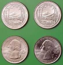 2013 US White Mountain Forest Quarter Set One P&One D From Mint Rolls