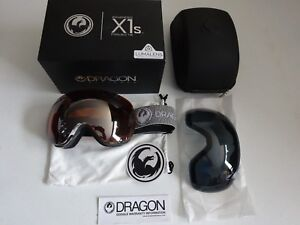 Dragon X1S Mill Lumalens Silver Ion & Dark Smoke Snow Goggle NIB New 2017