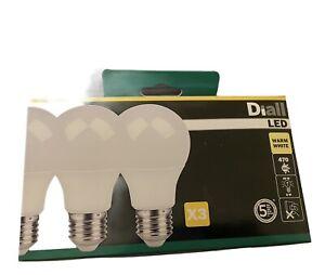 Pack of 3 LED Warm White Standard 6 Watt Bulbs GLS E27 Large Edison Screw 470LM