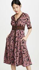 NWT Diane von Furstenberg $398 Peony Silk Crepe De Chine Midi Dress. US 4