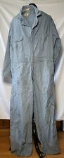 Vintage Blue Bell Herringbone Denim Coveralls original Brass Prentice Zipper