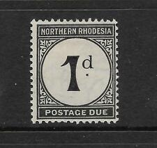 NORTHERN RHODESIA 1929-52 1d POSTAGE DUE MLH SG D1