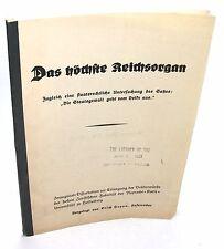 Heyen, Erich: Das höchste Reichsorgan. Zugleich eine staatsrechtliche ...