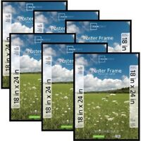 """Print Basic Style Black Wood Frame to fit a 22.5 x 34/"""" Poster Picture"""