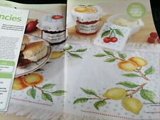 CROSS STITCH CHART SUMMER FRUIT SET CHARTS ONLY CHERRY LEMON STRAWBERRY ETC