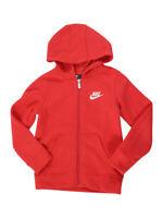 Nike Toddler Boy's Club Fleece Red Zip Front Hooded Sweatshirt Shirt Sz: 2T