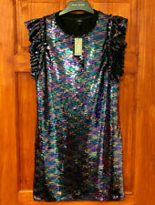 River Island New With Tag Sequin Party Evening Going Out Dress RRP £40 in Black