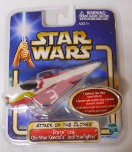 STILL SEALED! 2002 Tiger Star Wars AOTC Force Link Obi-Wan Jedi Starfighter