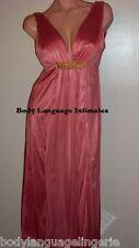 4X PLUNGE NECKLINE pink LONG NIGHTGOWN WOMENS PLUS SIZE LINGERIE 4x
