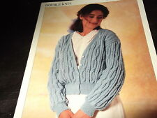 Hayfield Knitting Pattern 00629 for Ladies Cabled Cardigan in DK