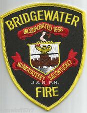 "Bridgewater - Nunkatateset - Saughtucket, MA  (3.75"" x 4.75"" size)  fire patch"