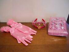 Disney Pretend Princess Play Dress Up Crown Tiara Gloves Costume Jewelry
