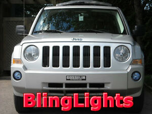 Xenon Halogen Fog Lamps Driving Light Kit Pair for 2007-2010 Jeep Patriot