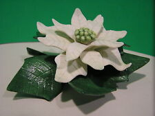 LENOX WHITE POINSETTIA Flower Figurine NEW in BOX w/COA
