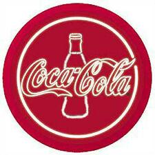 "Red Classic Coke Coca Cola Bottle Sign Beer Neon Party Bar Light Lite 18"" Round"