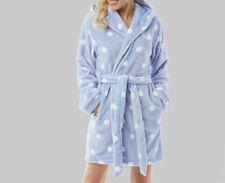 Bedroom Athletics Sade Hooded Fleece Dressing Gown-Kentucky Blue- Size XS (UK 8)