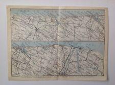 Mer Du Nord, Ostende, Nieuport, 1910 Antique Map, Original, Belgium & Holland 3