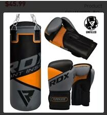 RDX F-12 BOOXING GLOVES Pair GIANT INSIDE 12 oz. Bag and Mounting Chain