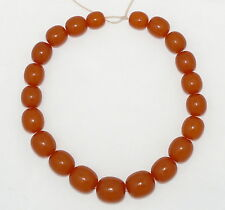 BIG Soviet Russian Pressed Baltic Amber Beads Necklace 78.5 gr. 琥珀
