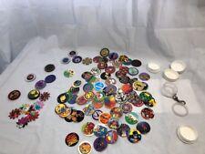 Vintage Pogs / Milkcaps Plastic and Metal Slammers 93 Piece Lot