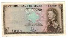 Malta 1   pound   1967 BB+  VF+  pick 29  rif 2644