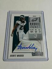 AVONTE MADDOX - 2018 PANINI CONTENDERS - ROOKIE AUTOGRAPH - EAGLES -