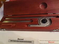 "Starrett C359FZ Precision Universal Bevel Vernier Protractor, 7"" & 12""Blade,"