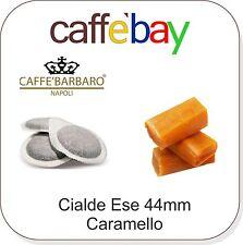 Cialde Ese 44mm  Caffè Barbaro  50pz Aromatizzato al CREAM CARAMEL CARAMELLO MOU