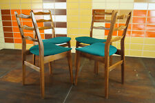 60er 4x Vintage Chairs Danish Retro Dining Room Walnut Armchair mid-Century