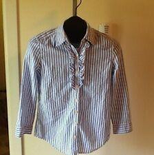 Hollister California 1922 Ruffle Button Front Cotton Shirt Size XS