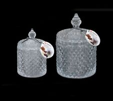 Alpina Decorative Glass Sweet Jar Lid Retro Sweetie Candy Container Display 20cm
