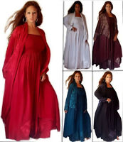 LOVELY MAXI DRESS LONG JACKET SET LotusTraders MADE TO ORDER MISSES PLUS F412