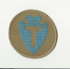 US ARMY PATCH - 36TH INFANTRY DIVISION - INTERWAR - MACHINE EMBROIDERED ON KHAKI
