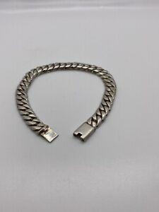 """Heavy Solid 9mm Miami Cuban Link 925 Silver Men Bracelet 8.5"""""""