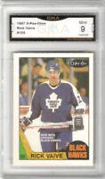 1987-88 O-Pee-Chee #155 Rick Vaive | Graded Mint 9 | Toronto Maple Leafs