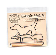 Classic Motifs Hunting Dog 6 Inch Fabric Holder With Dowel
