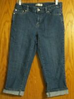 Christopher and Banks women's size 4 denim blue jean flat front capris 29x20