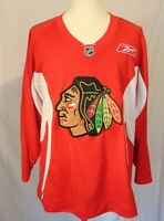 Chicago Blackhawks NHL Mens L Reebok Red Sewn Hockey Jersey/Shirt