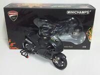 MINICHAMPS VALENTINO ROSSI 1/12 DUCATI MOTOGP TEST VALENCIA 2010 MOTORE SCREAMER