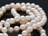 endlose Akoya Zucht Perlen Kette Collier ca. 80 cm neu