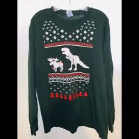 Funny Novelty T-Shirt Mens Tee LS Christmas Lunch For Trex Dinosaur Nordic L