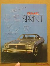 1976 GMC Sprint Catalog Brochure Vintage Original General Motors