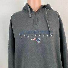 Reebok Authentic New England Patriots Hoodie Sweatshirt NFL Equipment Grey XL