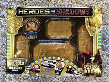 New Treasure X Heroes vs Shadows w/ Real Gold Dipped Treasure - 4 Boxes To Open!